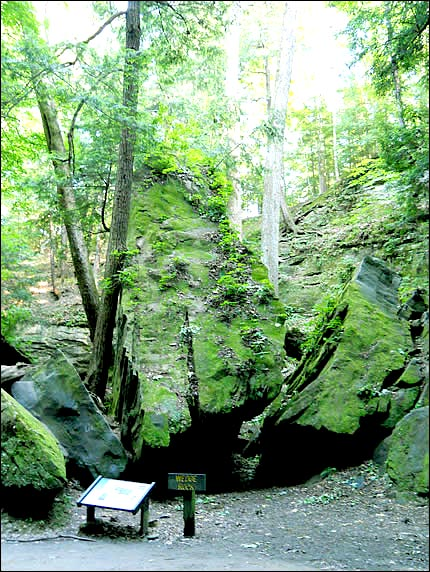 Wedge Rock at Turkey Run State Park