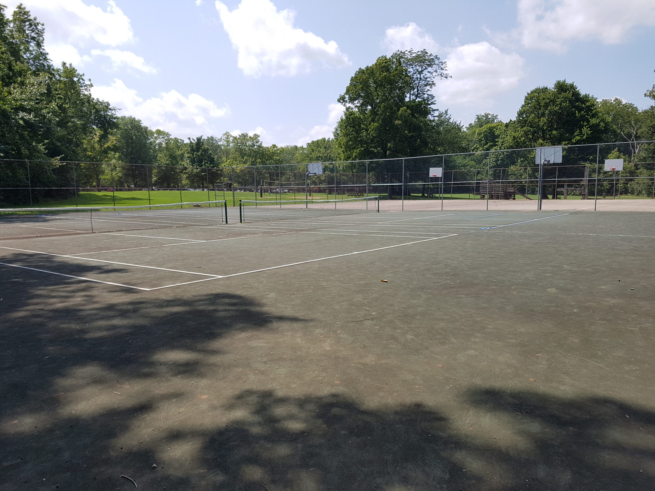 Tennis and Basketball Courts at Turkey Run State Park