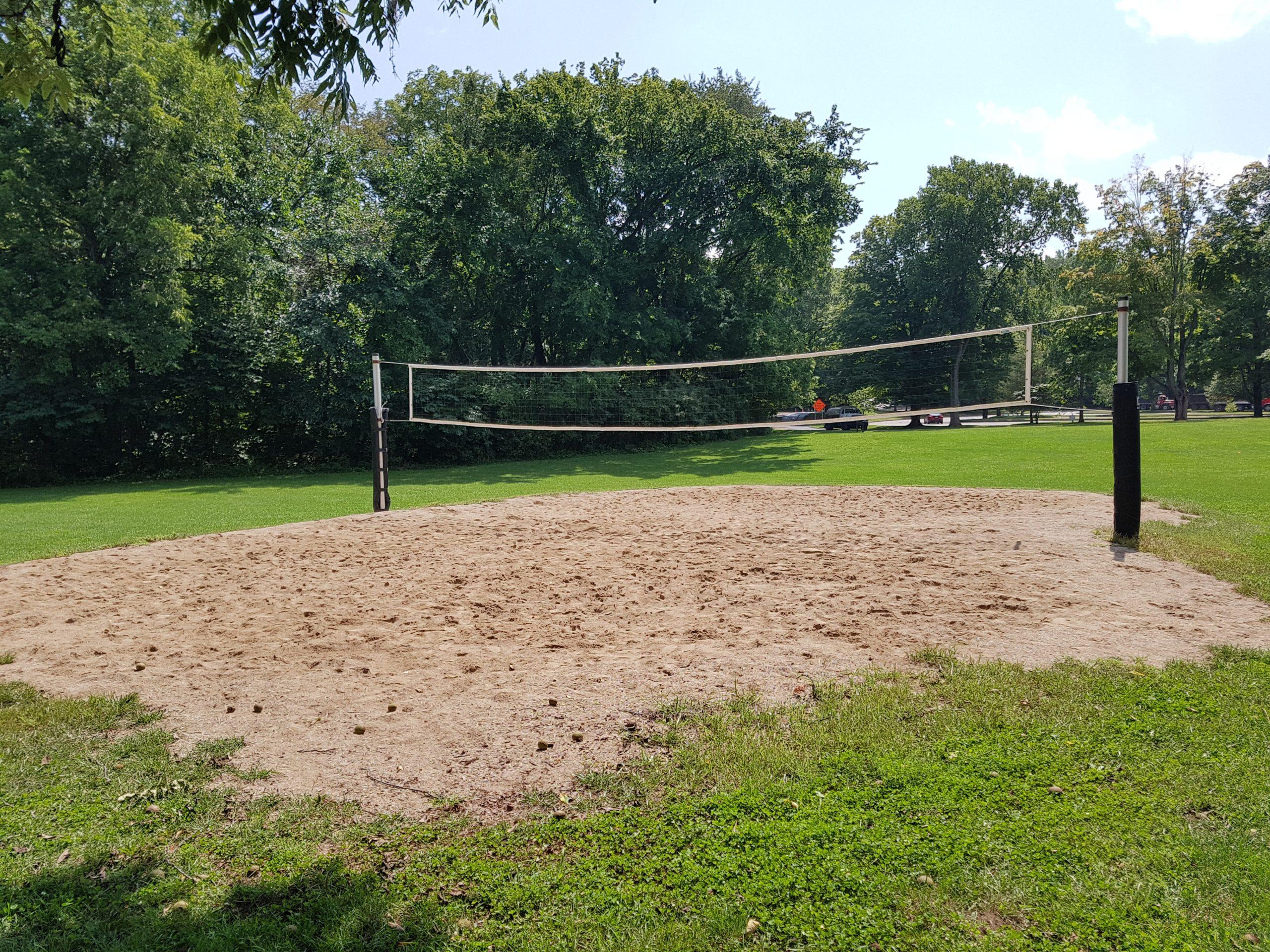 Sand Volleyball Court at Turkey Run State Park