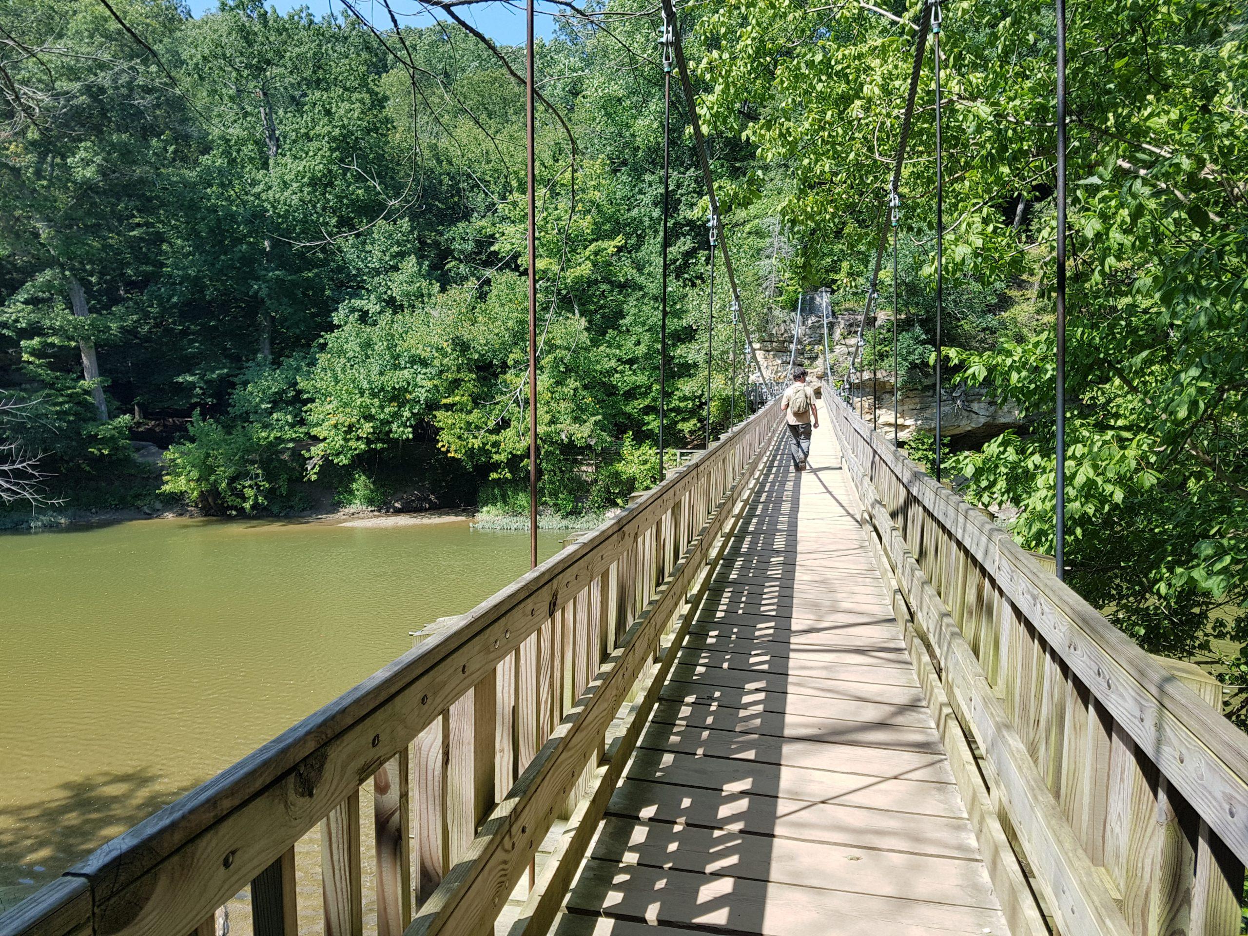 Suspension Bridge at Turkey Run State Park