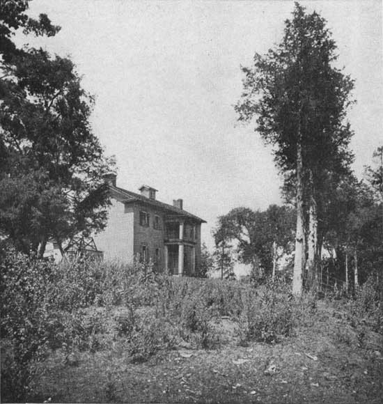 historic photo of Lusk Home at Turkey Run State Park
